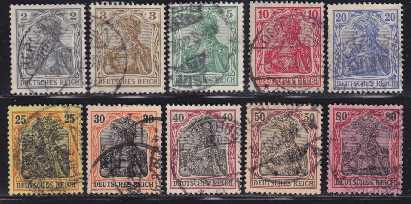 первые почтовые марки германии